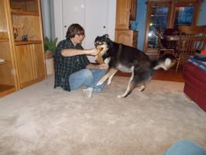 Rick and Sascha fighting over the fox.