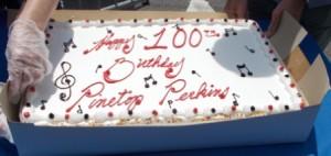 Brithday cake for Pinetop Perkins.