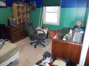 Rick's room as he left it.