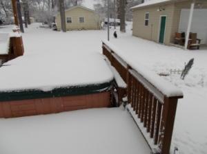 Snow on Sunday morning.