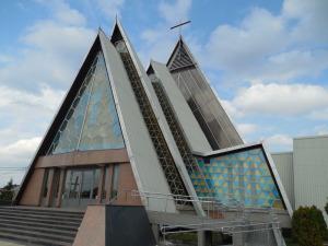 Good Shepherd Catholic Church in town.