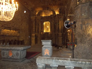 Main chapel in the salt mine.