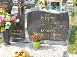 One of the Zurek headstones in the cemetery