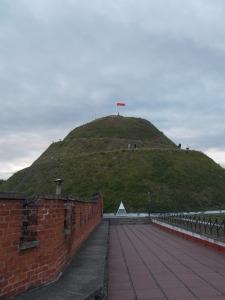 Kosciuszko's Mound from the fort below.