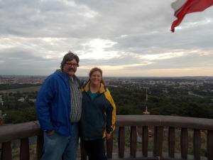 Rich and Joy at Kosciuszko's Mound.